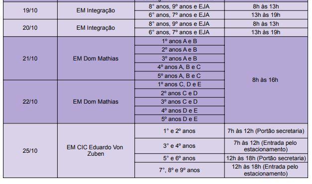 cronograma kit outubro2